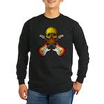 Skull & Guitar Long Sleeve Dark T-Shirt
