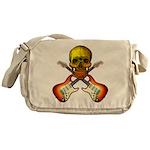 Skull & Guitar Messenger Bag