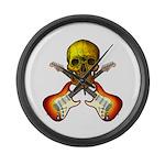 Skull & Guitar Large Wall Clock