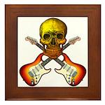 Skull & Guitar Framed Tile