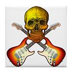 Skull & Guitar Tile Coaster
