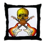 Skull & Guitar Throw Pillow