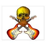 Skull & Guitar Small Poster