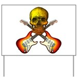 Skull & Guitar Yard Sign