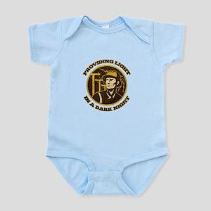 power lineman electrician Infant Bodysuit