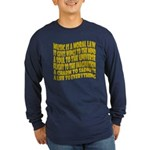 Music is a Moral Law Long Sleeve Dark T-Shirt