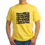 Music is a Moral Law Yellow T-Shirt