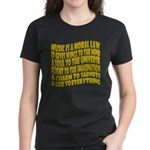 Music is a Moral Law Women's Dark T-Shirt