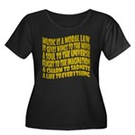 Music is a Moral Law Women's Plus Size Scoop Neck