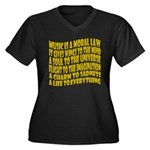 Music is a Moral Law Women's Plus Size V-Neck Dark