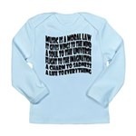 Music is a Moral Law Long Sleeve Infant T-Shirt