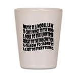 Music is a Moral Law Shot Glass