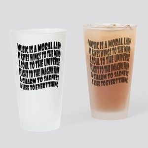 Music is a Moral Law Drinking Glass