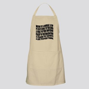 Music is a Moral Law Apron