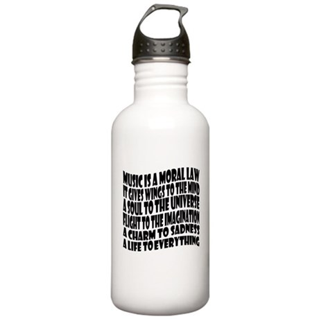 Music is a Moral Law Stainless Water Bottle 1.0L