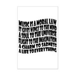 Music is a Moral Law Mini Poster Print