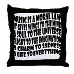Music is a Moral Law Throw Pillow