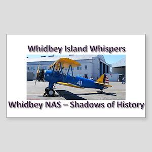 Boeing E-75 Biplane Sticker (Rectangle)