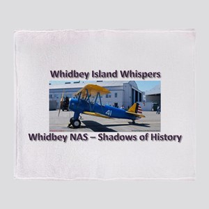 Boeing E-75 Biplane Throw Blanket
