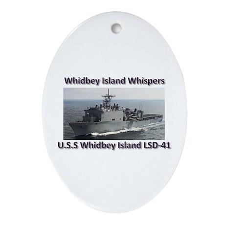 U.S.S. Whidbey Island LSD-41 Ornament (Oval)