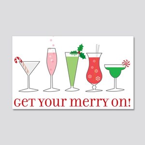 get your merry on. 22x14 Wall Peel