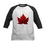 Canada Maple Leaf Souvenir Kids Baseball Tee