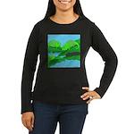 Adopted (no text) Women's Long Sleeve Dark T-Shirt