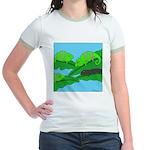 Adopted (no text) Jr. Ringer T-Shirt