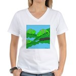 Adopted (no text) Women's V-Neck T-Shirt
