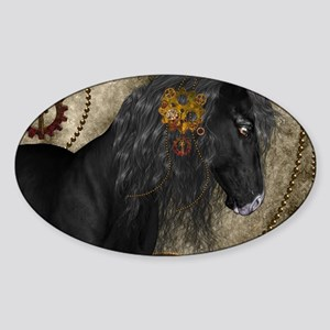 Beautiful wild horse with steampunk elements Stick