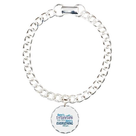 Swimming is Everything Charm Bracelet, One Charm