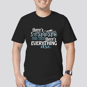 Swimming is Everything Men's Fitted T-Shirt (dark)