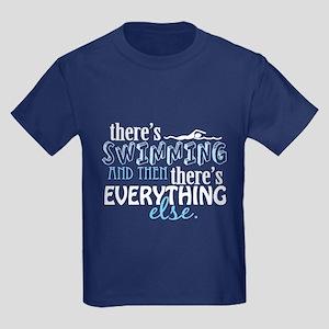 Swimming is Everything Kids Dark T-Shirt