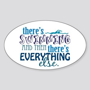 Swimming is Everything Sticker (Oval)