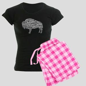 Buffalo Text Women's Dark Pajamas