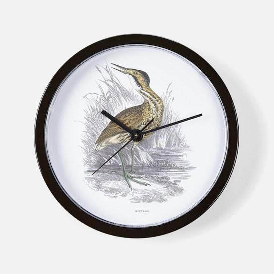 Bittern Bird Wall Clock