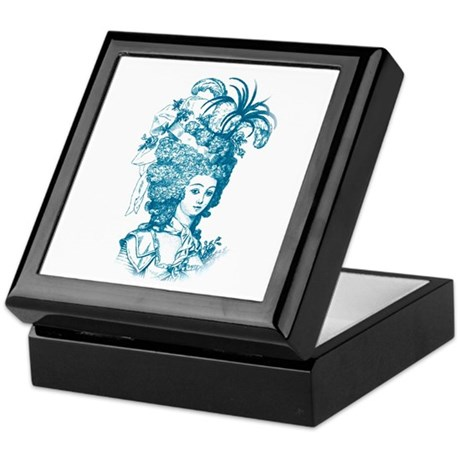 French Aristocrat (teal) Keepsake Box