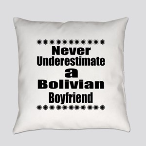 Never Underestimate A Bolivian Boy Everyday Pillow