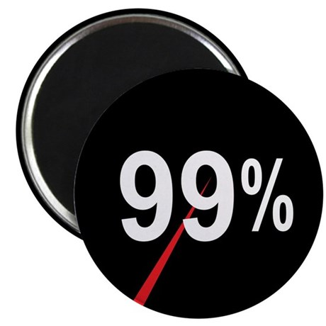 "99 Percent Pie Chart: 2.25"" Magnet (100 pack)"
