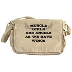 Muscle Girls have wings Messenger Bag