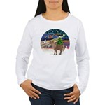 XmasMagic/Shetland Pony Women's Long Sleeve T-Shir