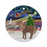 XmasMagic/Shetland Pony Ornament (Round)