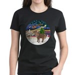 XmasMagic/Shetland Pony Women's Dark T-Shirt