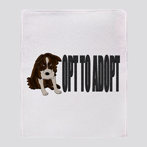 Opt To Adopt Throw Blanket
