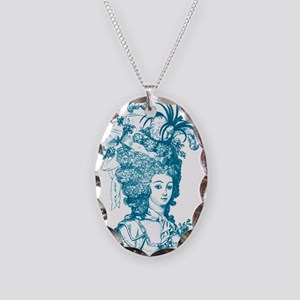 French Aristocrat (teal) Necklace Oval Charm