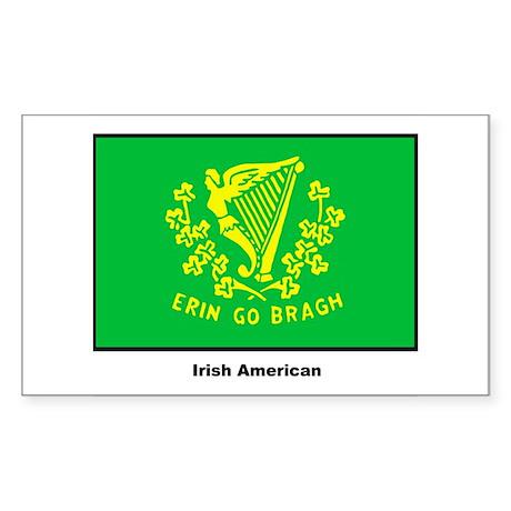 Irish American Flag Rectangle Sticker