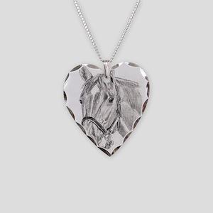 Horses Necklace Heart Charm