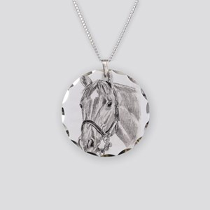 Horses Necklace Circle Charm