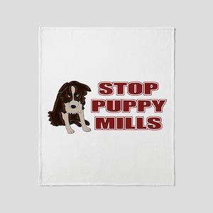 Stop Puppy Mills Throw Blanket