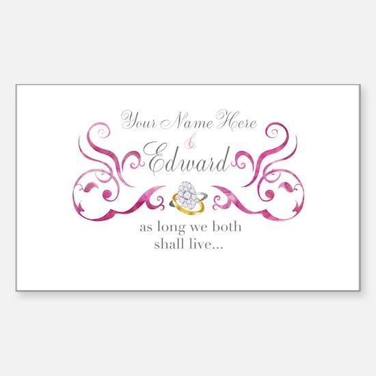 Vows Sticker (Rectangle)